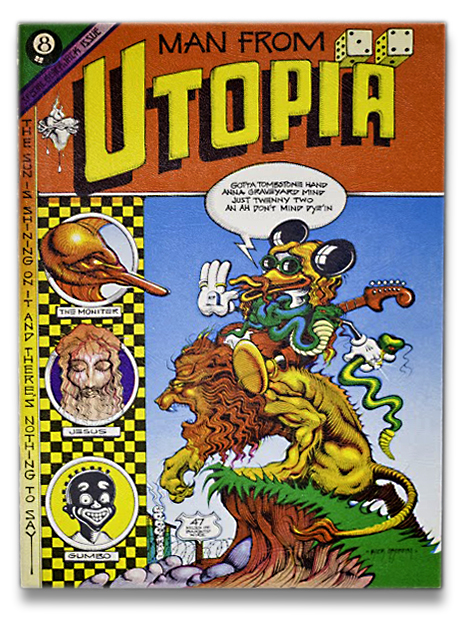 Rick Griffin,Man from Utopia Comic Art,Psychedelic art