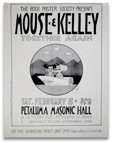Rick Griffin,Mouse Kelley Poster,Petaluma,Masonic Hall,Psychedelic Art