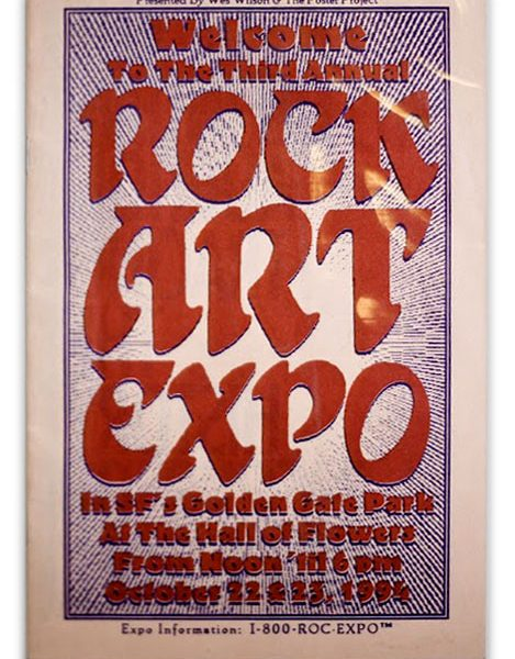 Rock Art Expo Poster Wes Wilson