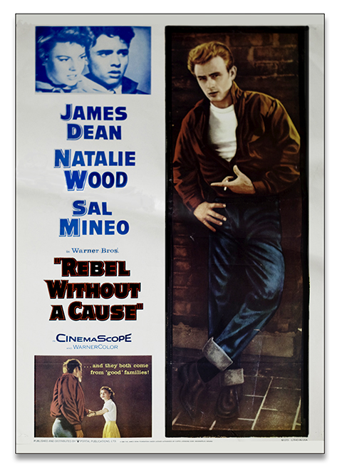 James Dean,Rebel without a cause,vintage 60s poster